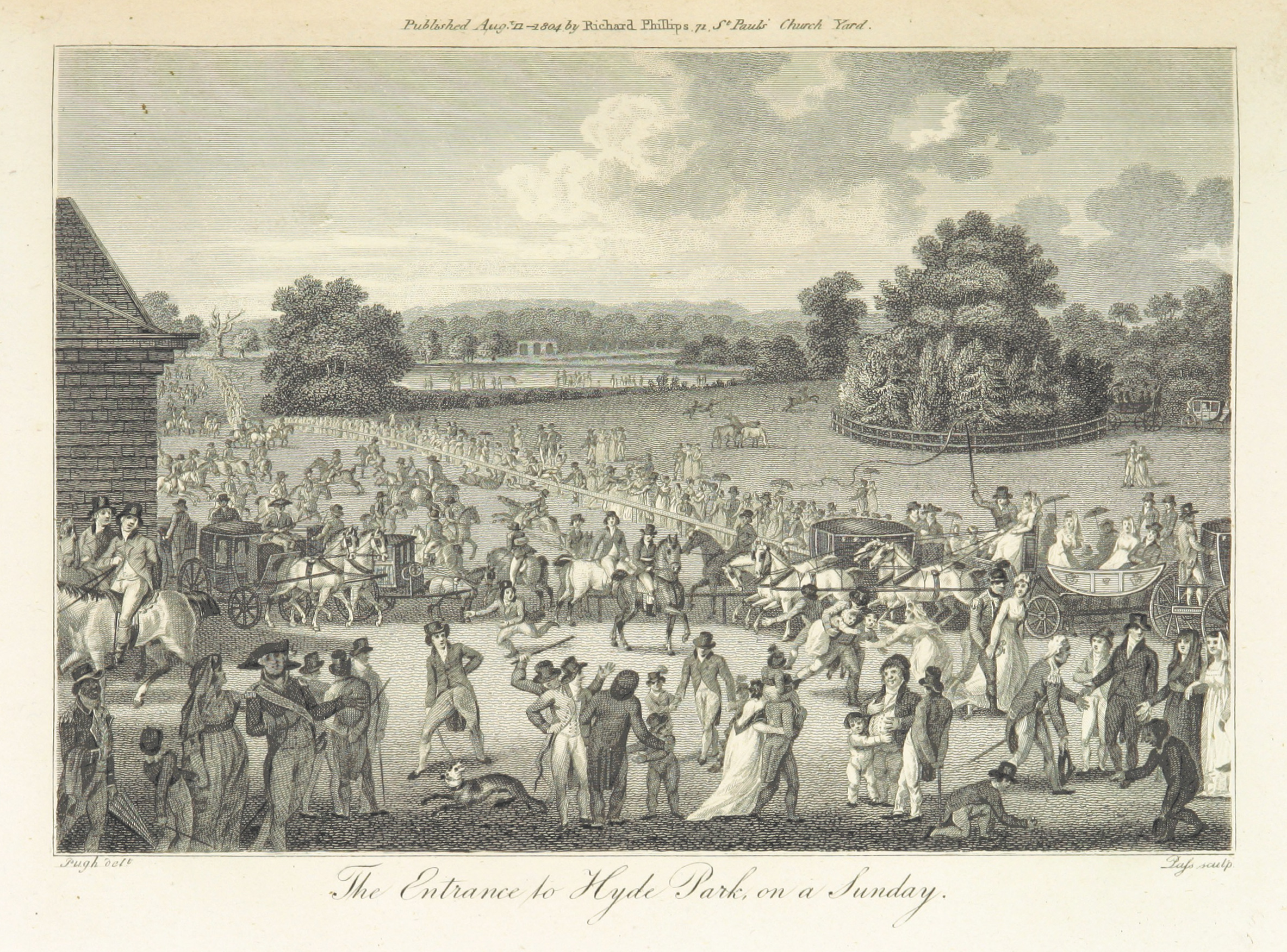 Phillips(1804)_p277_-_The_Entrance_to_Hyde_Park_on_Sunday