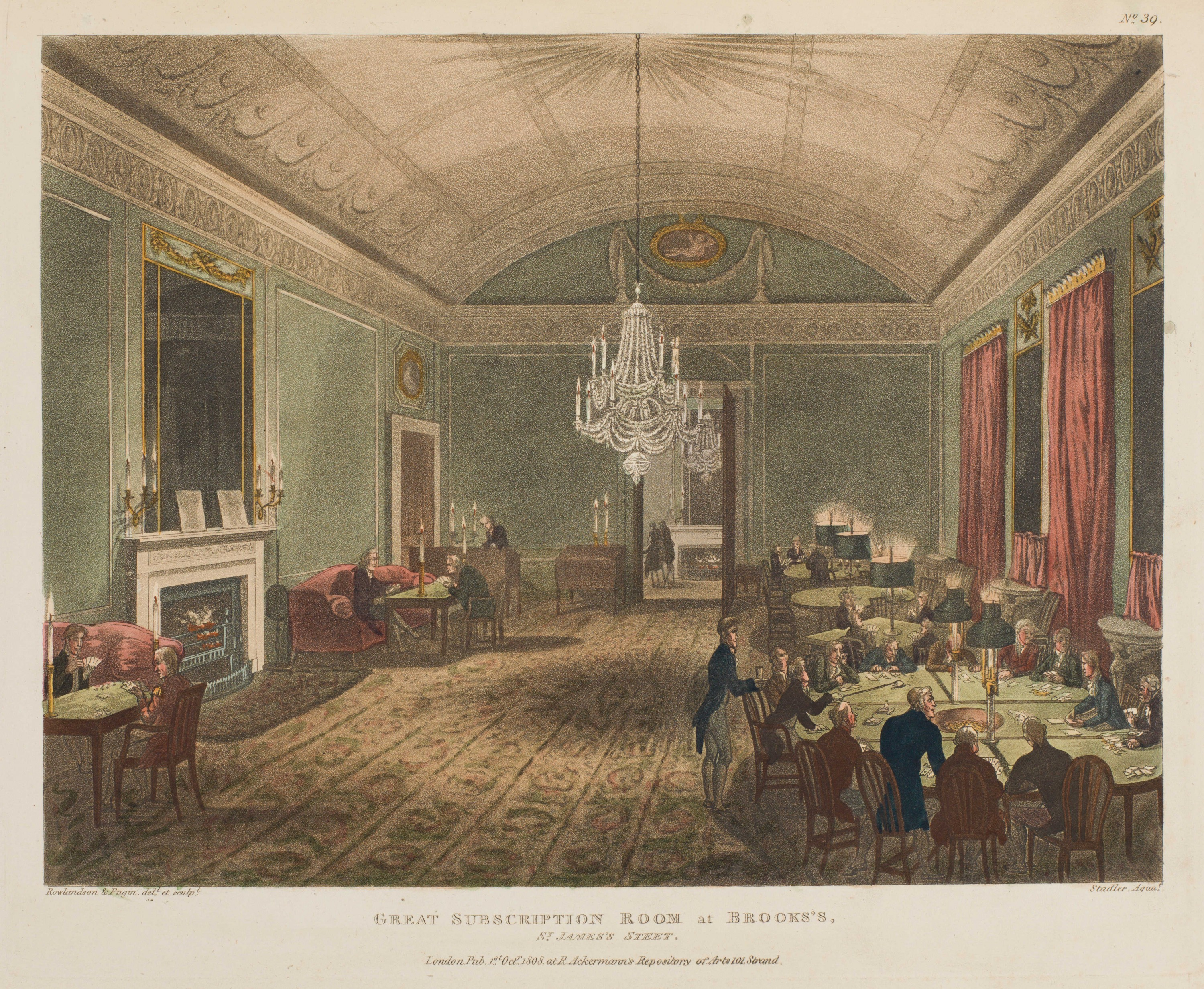 039 - Great Subscription Room at Brookss, St Jamess Street