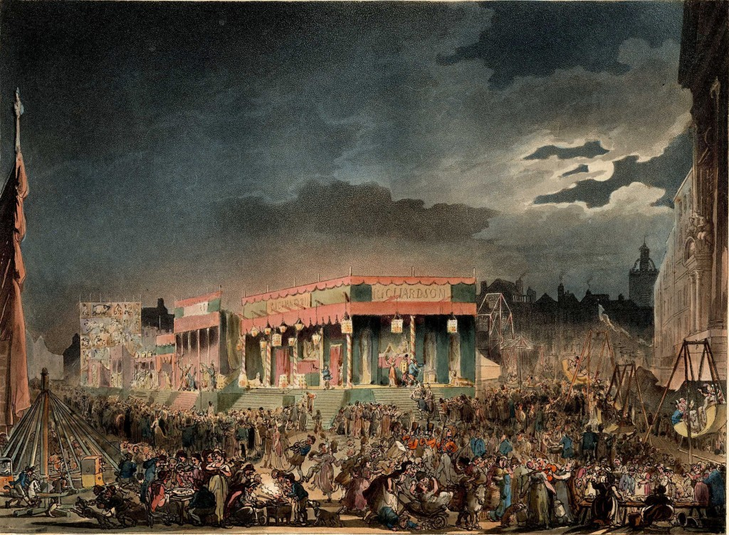 Plate No. 8: Bartholomew Fair. Kindly provided by the Bishopsgate Institute, from their copy of the Microcosm.