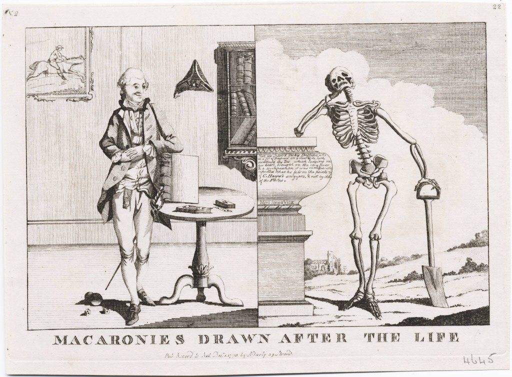 Macaronies Drawn After The Life