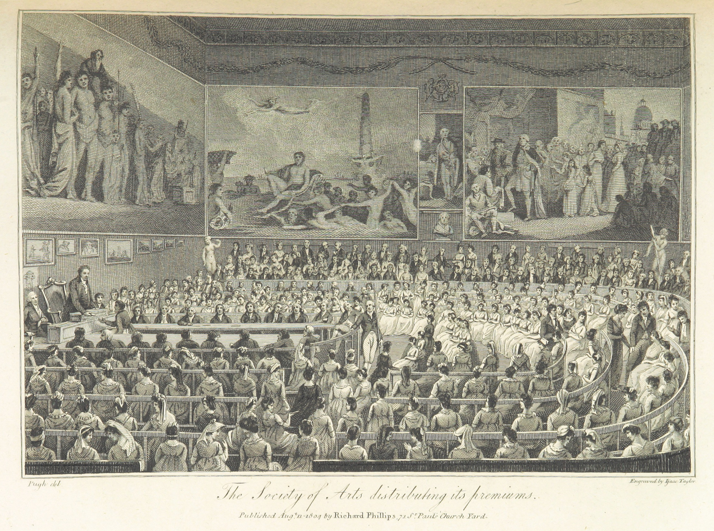 Phillips(1804)_p447_-_The_Society_of_Arts_distributing_its_premiums