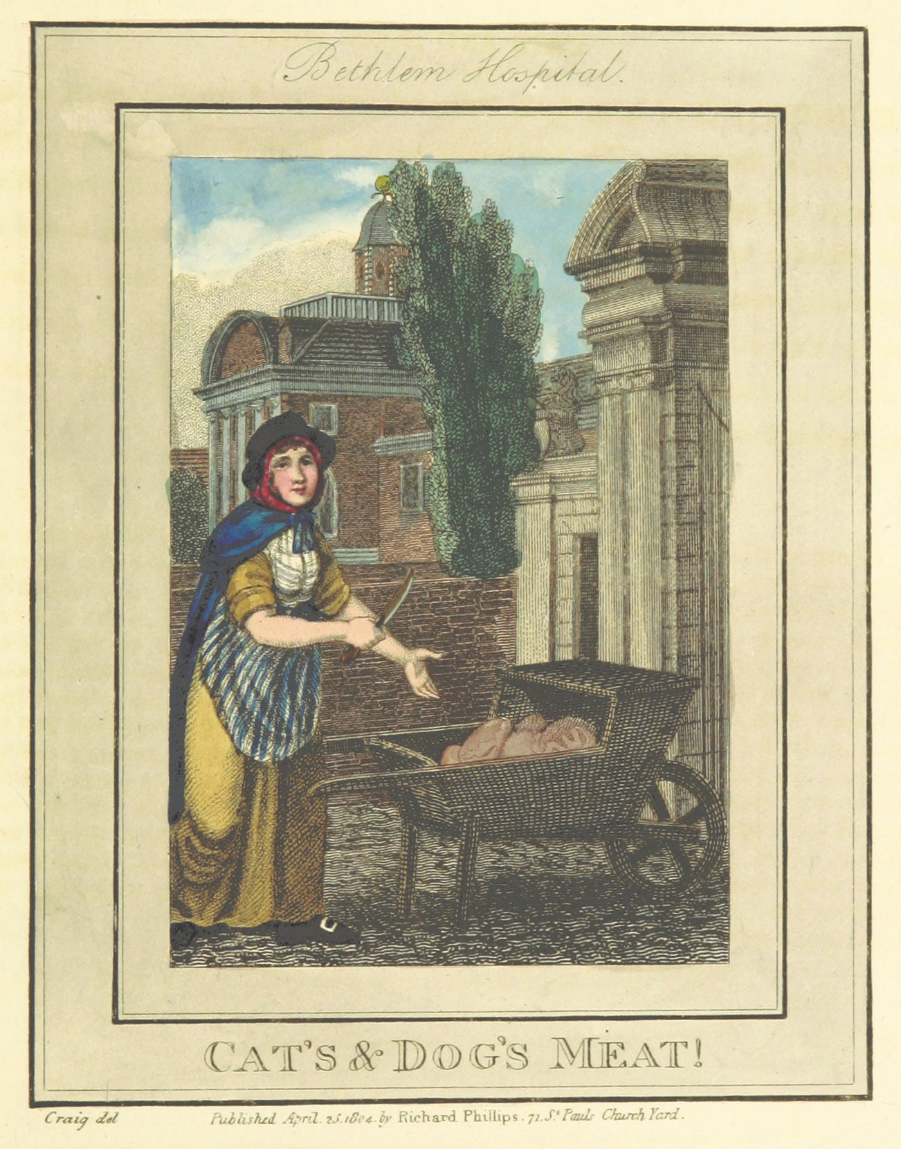 Phillips(1804)_p577_-_Bethlem_Hospital_-_Cats_and_Dogs_Meat
