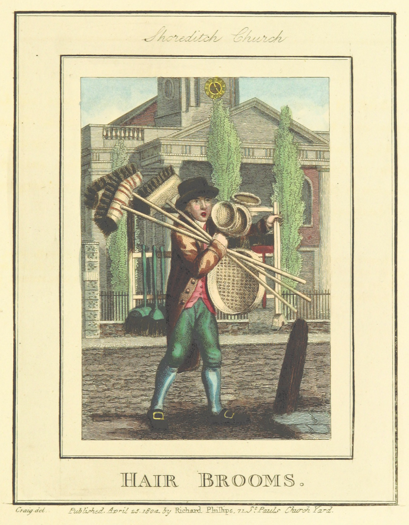 Phillips(1804)_p601_-_Shoreditch_Church_-_Hair_Brooms