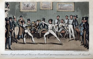 15 - Fencing - Jerry's admiration of Tom in an Assault with Mr O'Shaunessy, at the Rooms in St James's Stt.