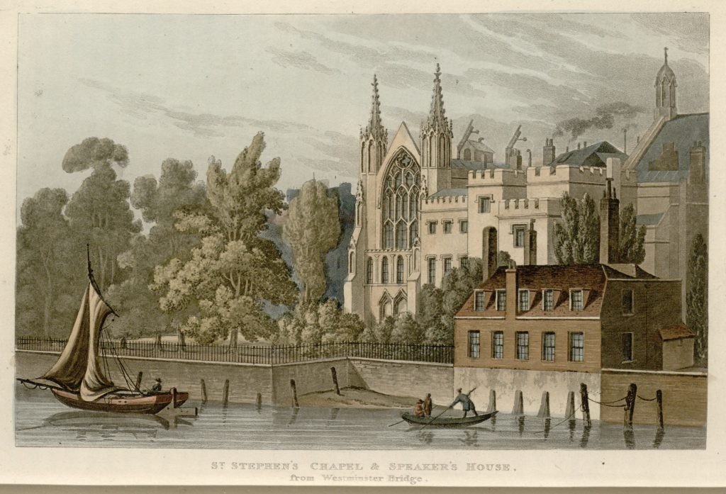 10 - Papworth - St Stephen's Chapel & Speaker's House, from Westminster Bridge