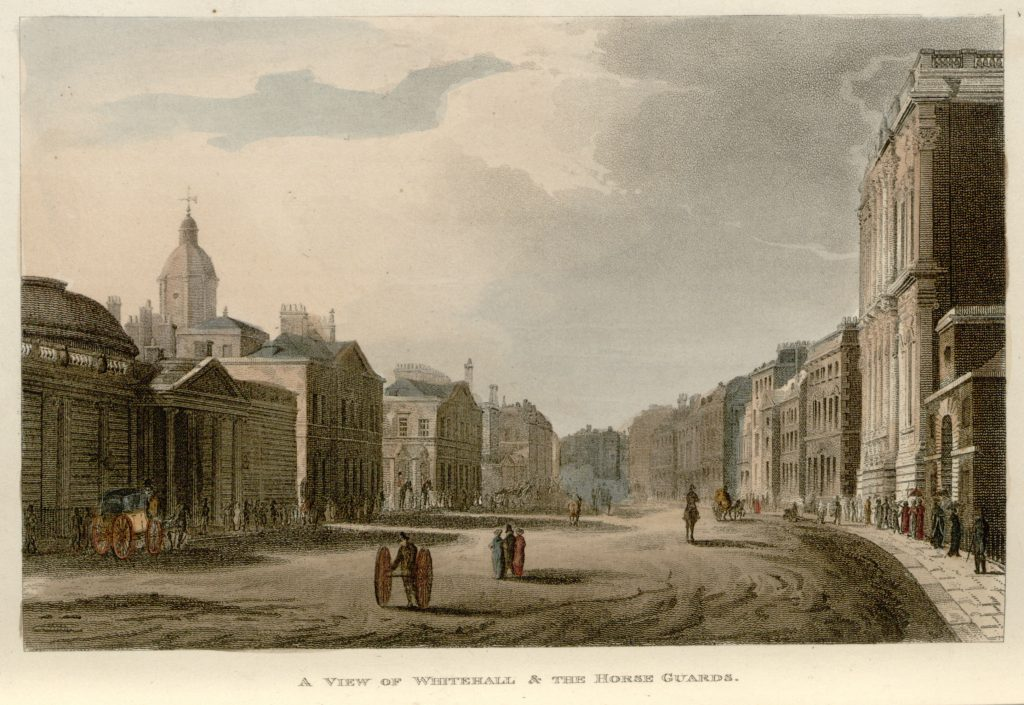 41 - Papworth - A View of Whitehall & the Horse Guards