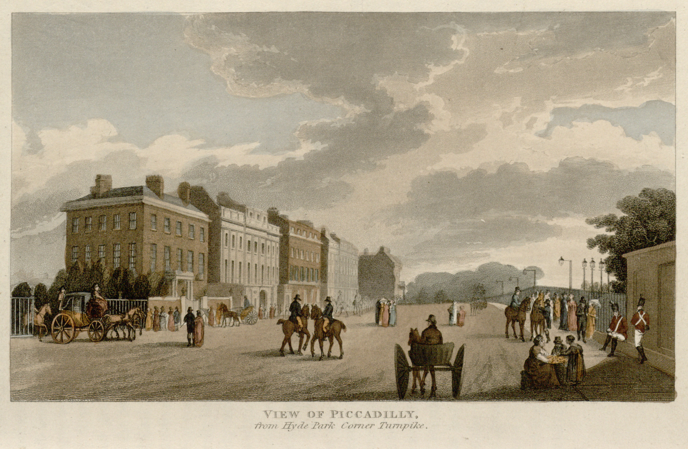48 - Papworth - View of Piccadilly, from Hyde Park Corner Turnpike