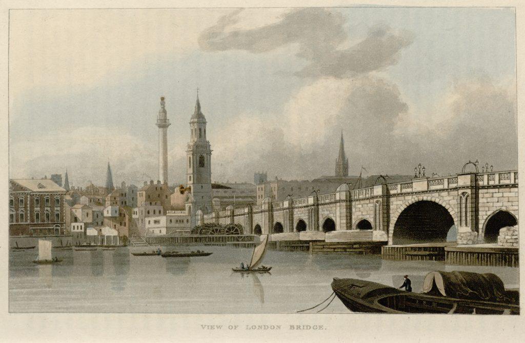 71 - Papworth - View of London Bridge