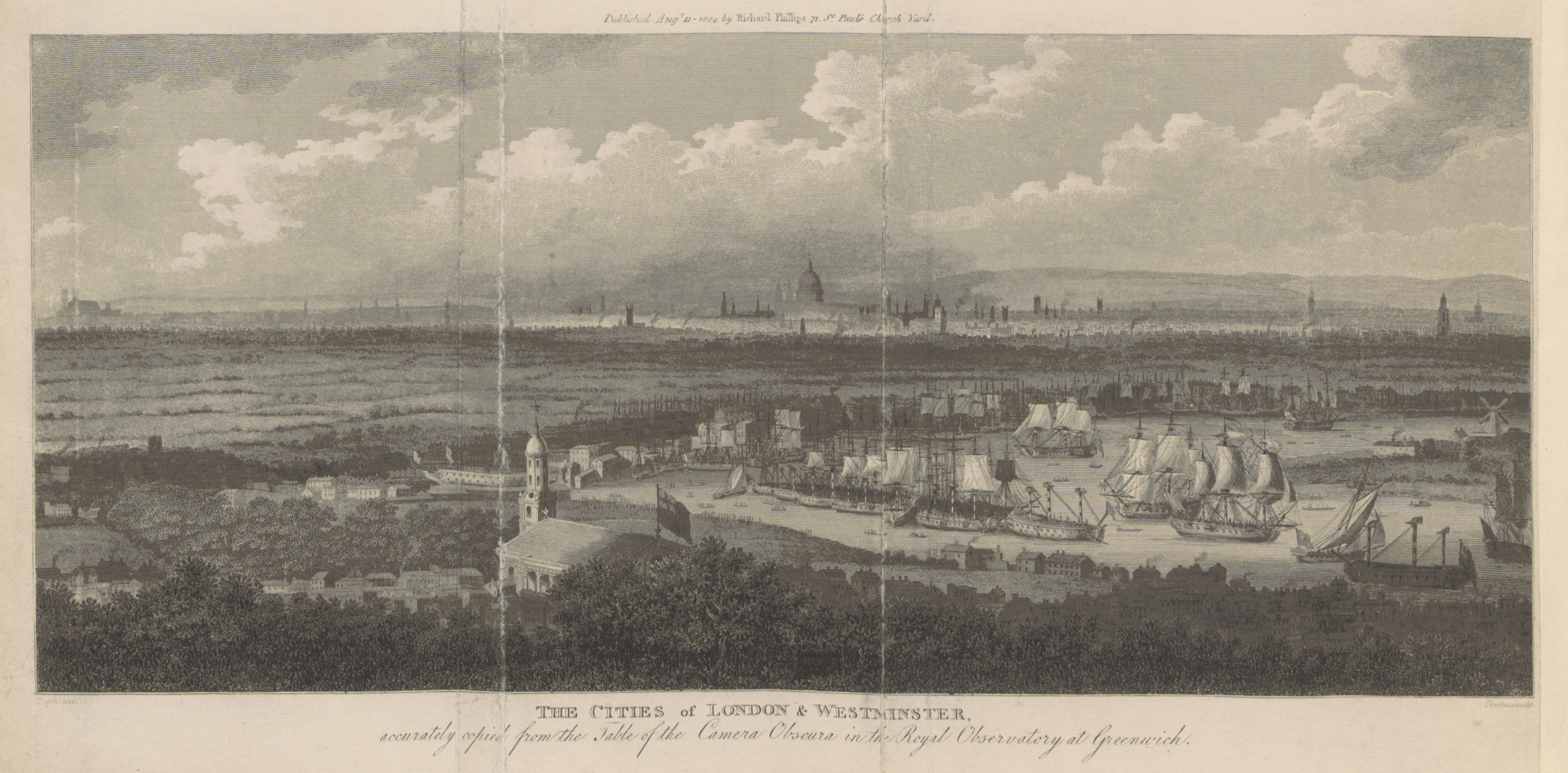 Phillips(1804)_p008_-_Cities_of_London_and_Westminster_(view_from_Greenwich)