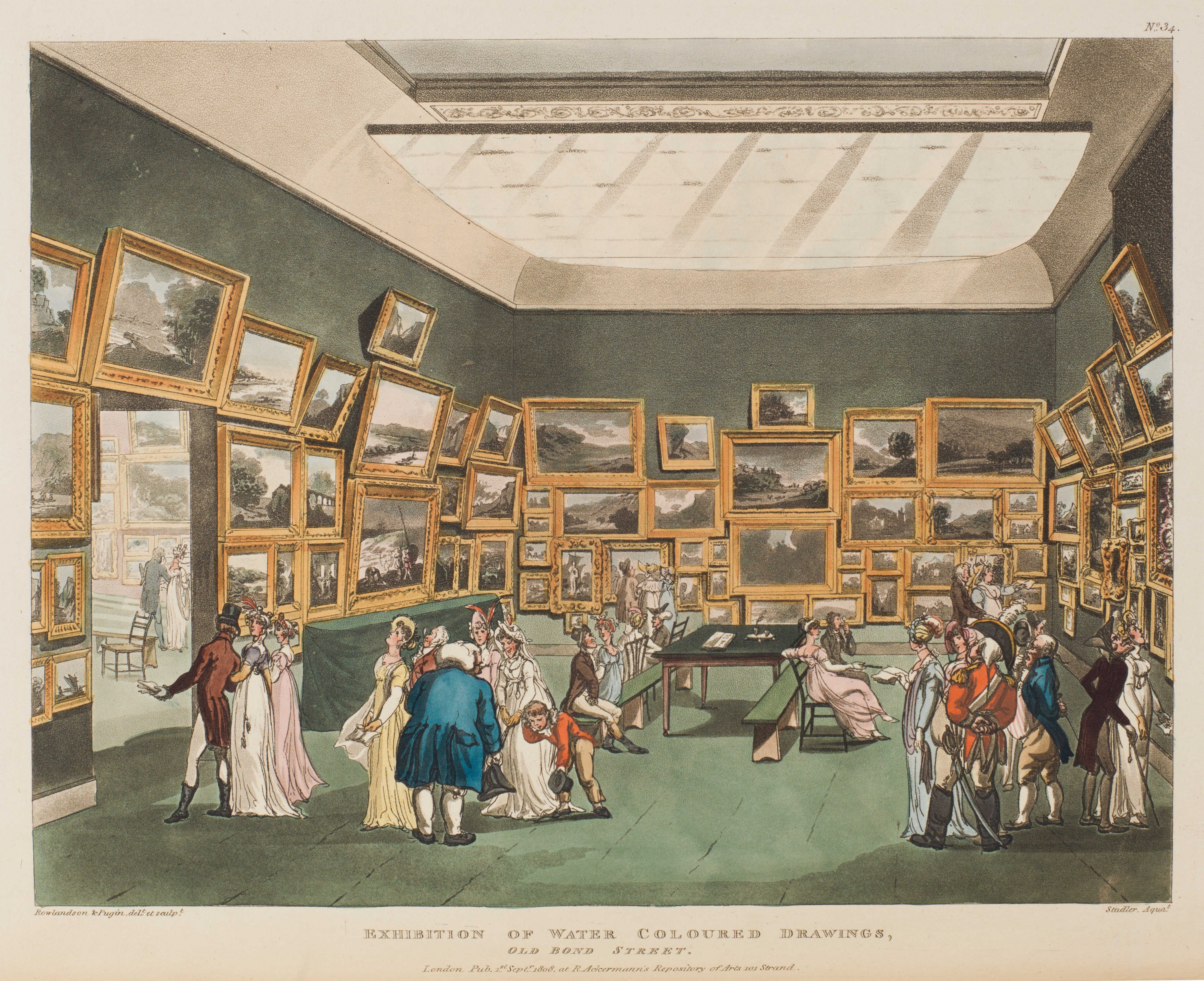 034 - Exhibition of Water Colour Drawings, Old Bond Street