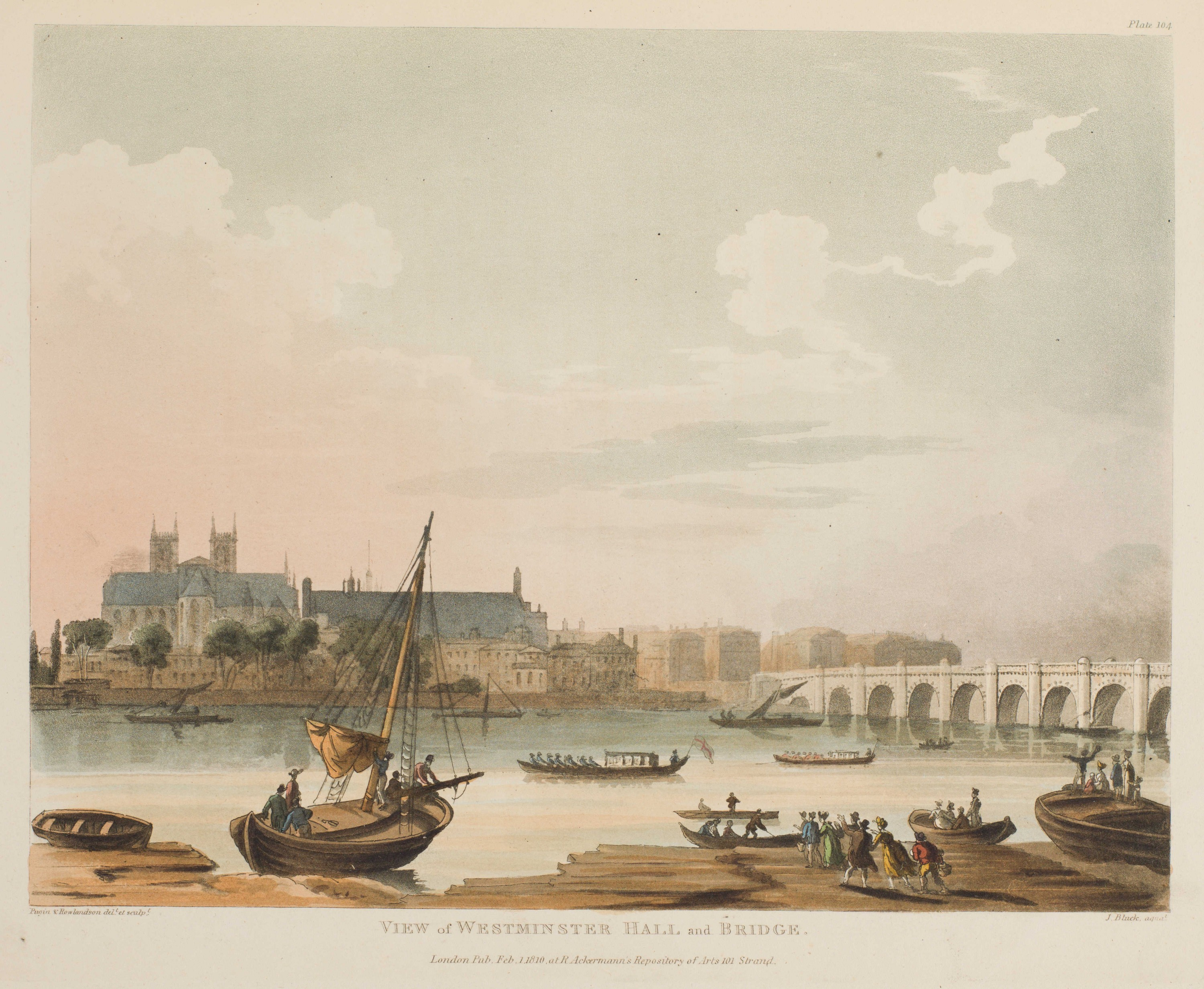 103 - View of Westminster Hall and Bridge