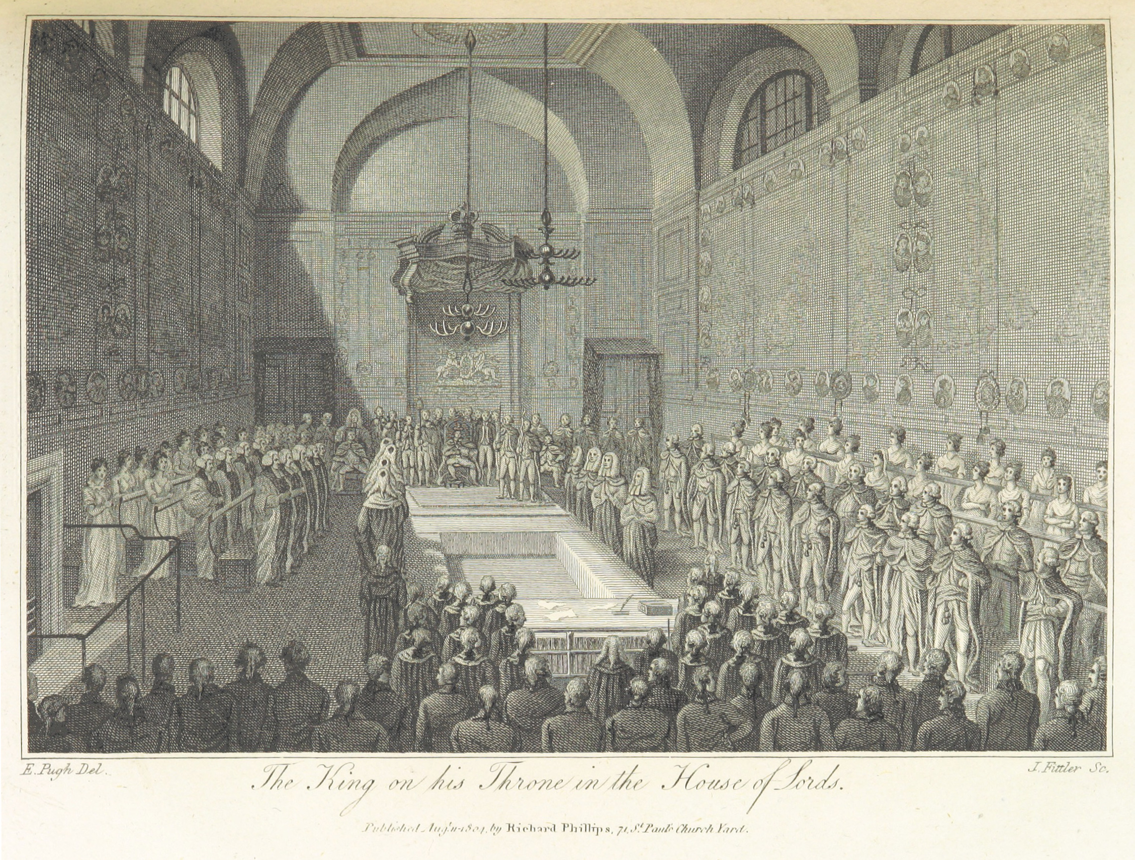 Phillips(1804)_p291_-_The_King_on_his_Throne_in_the_House_of_Lords