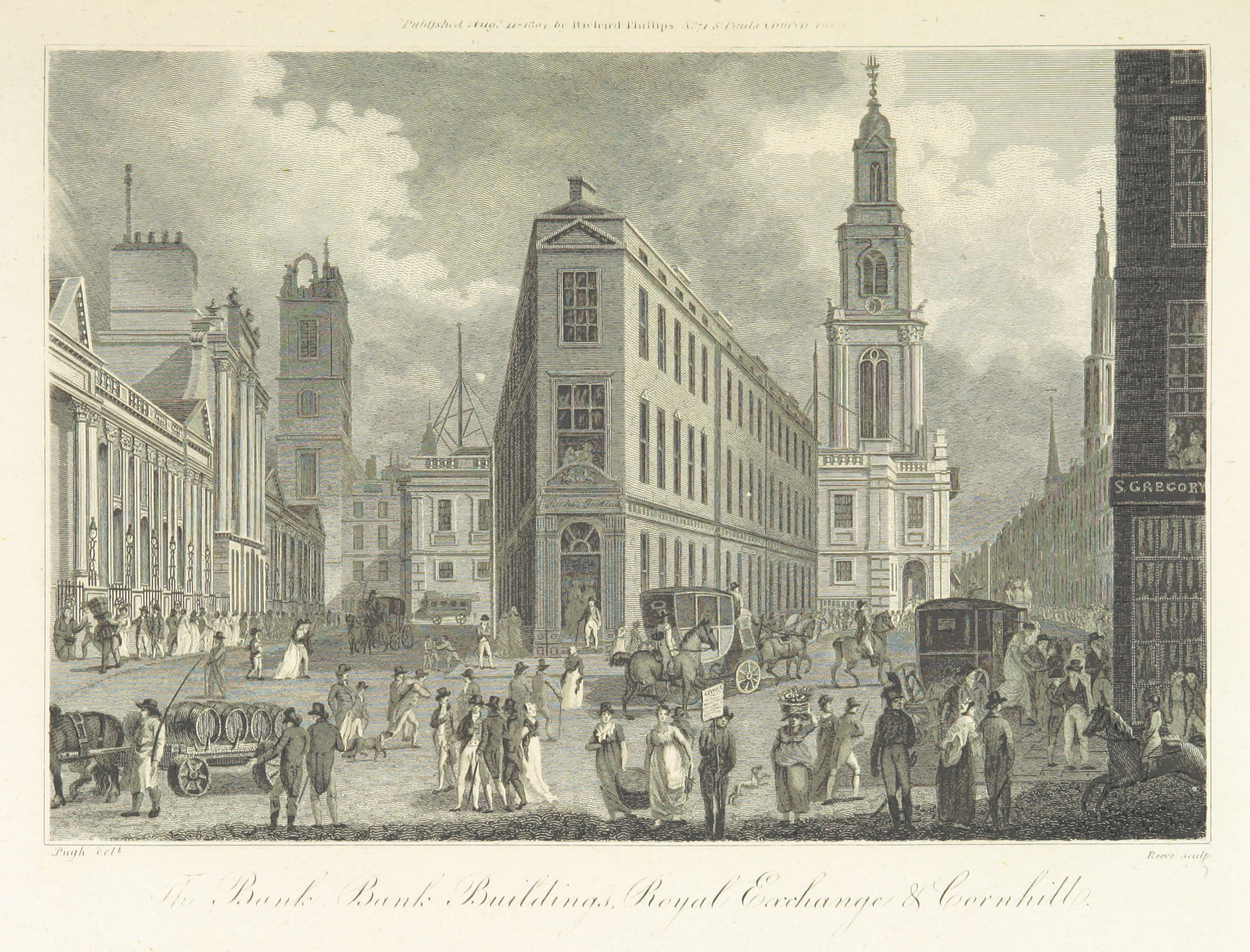 Phillips(1804)_p333_-_The_Bank,_Bank_Buildings,_Royal_Exchange_and_Cornhill
