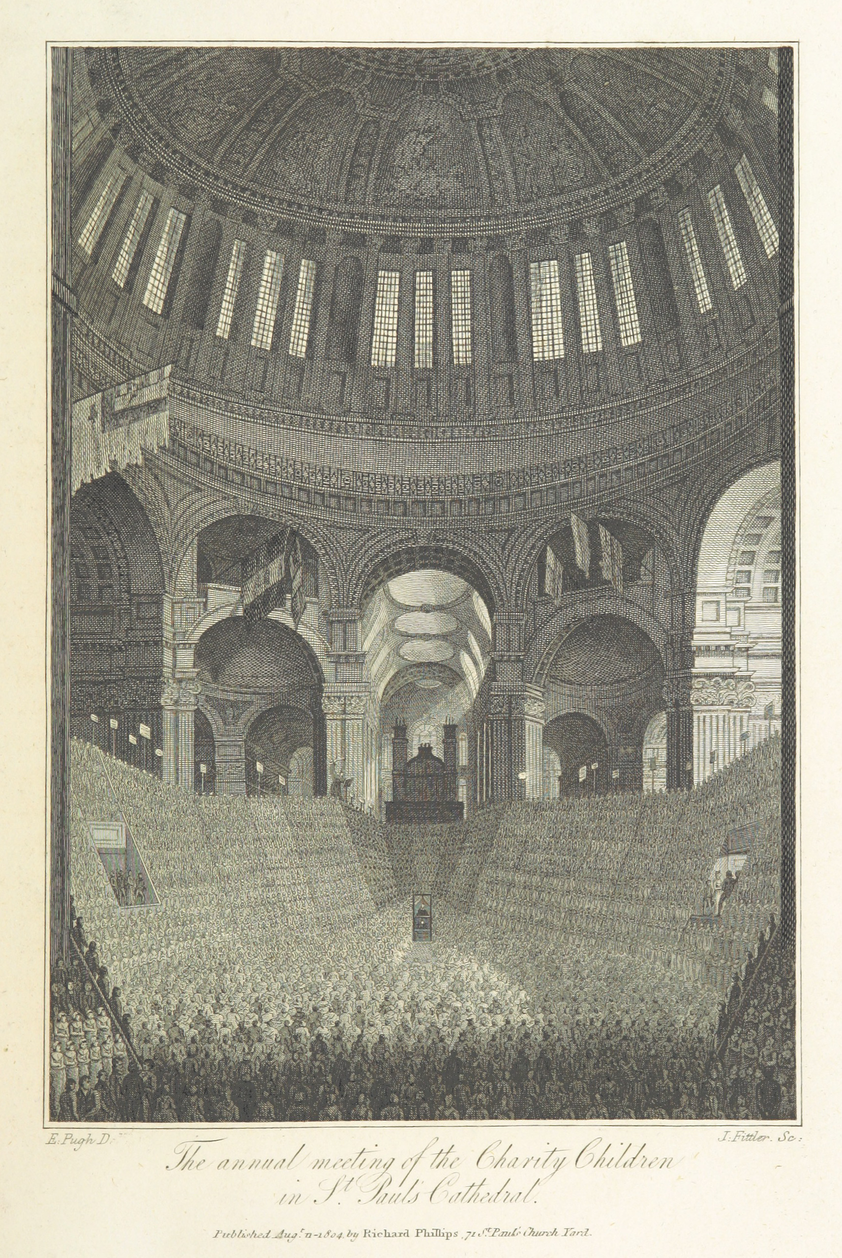 Phillips(1804)_p405_-_The_annual_meeting_of_the_Charity_Children_at_St_Pauls_Cathedral