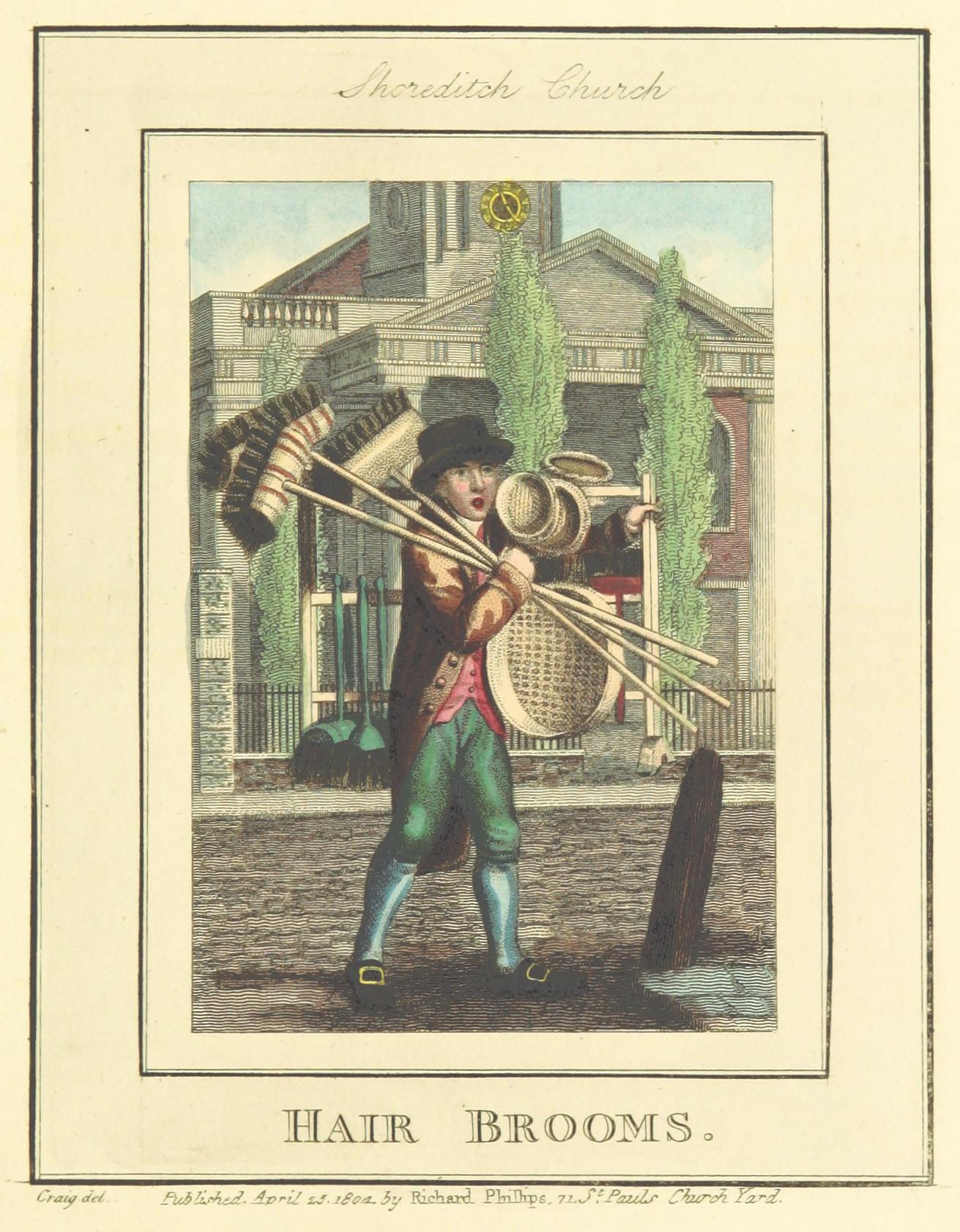 Phillips(1804)_p601_-_Shoreditch_Church_-_Hair_Brooms