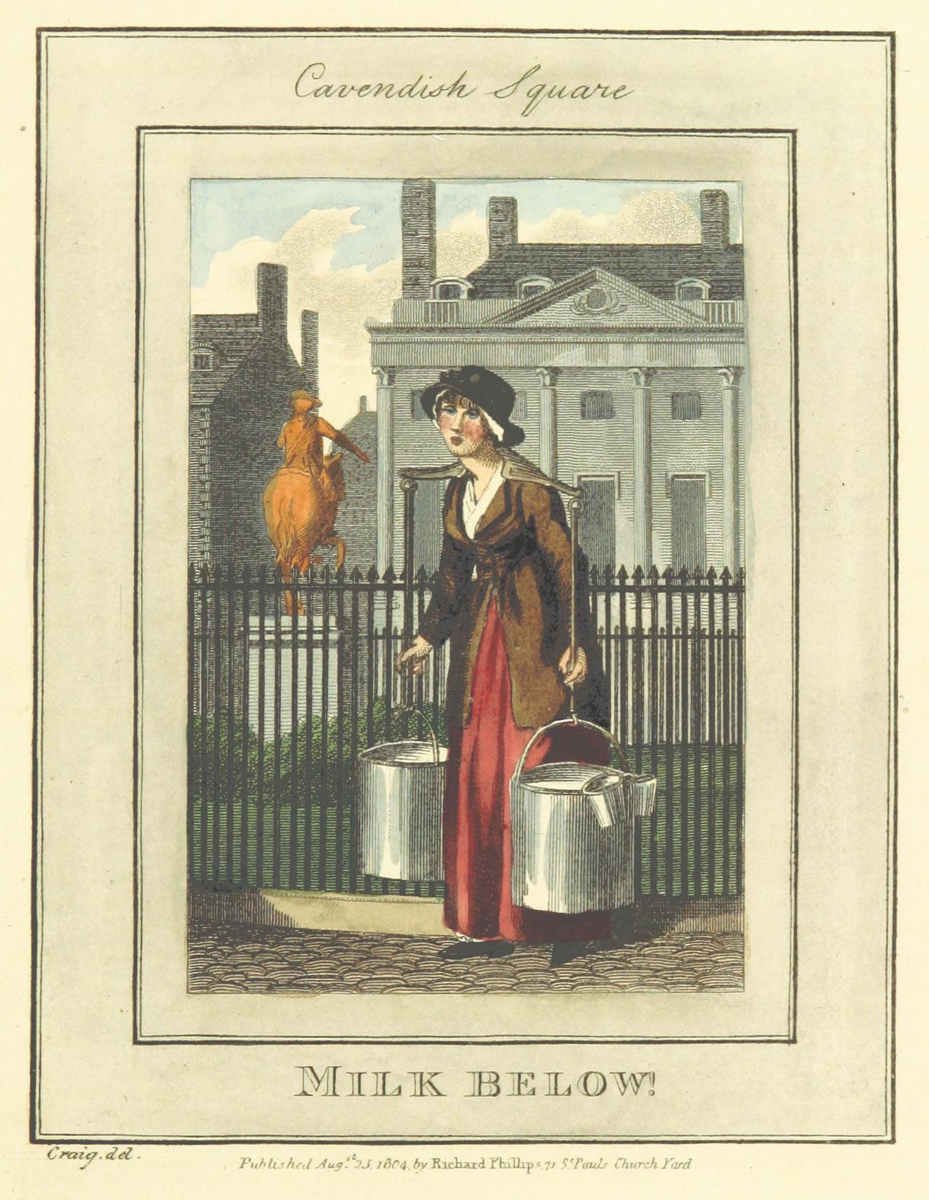 Phillips(1804)_p629_-_Cavendish_Square_-_Milk_Below!