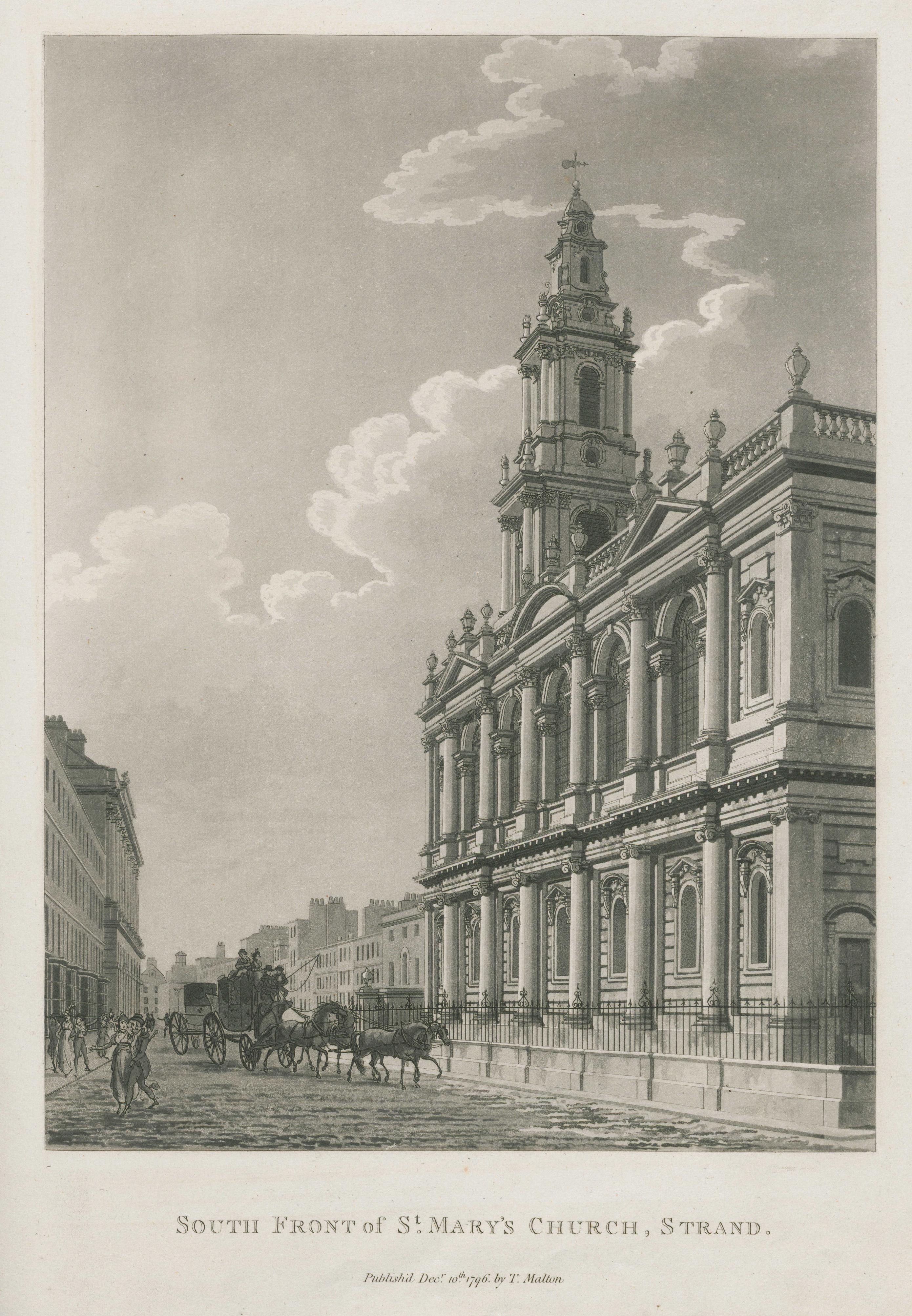 043 - Malton - South Front of St Mary's Church, Strand