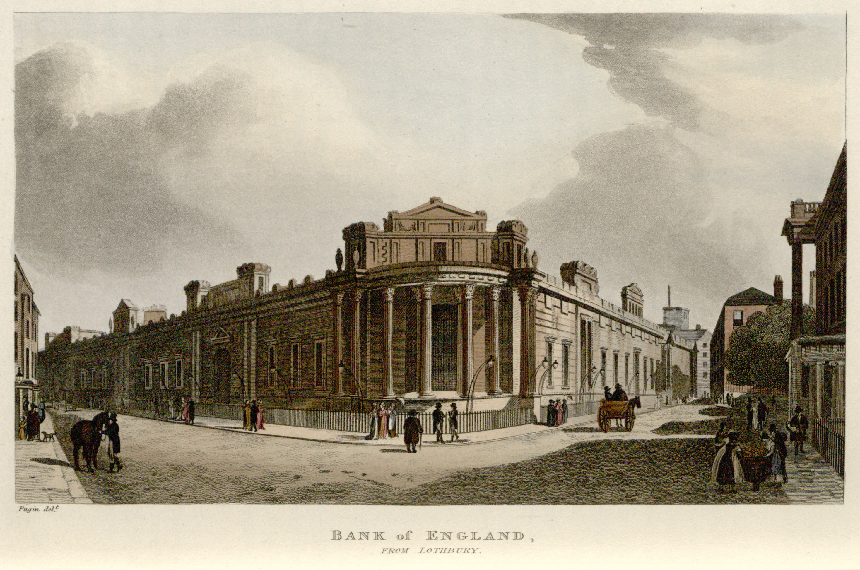 53 - Papworth - Bank of England, From Lothbury