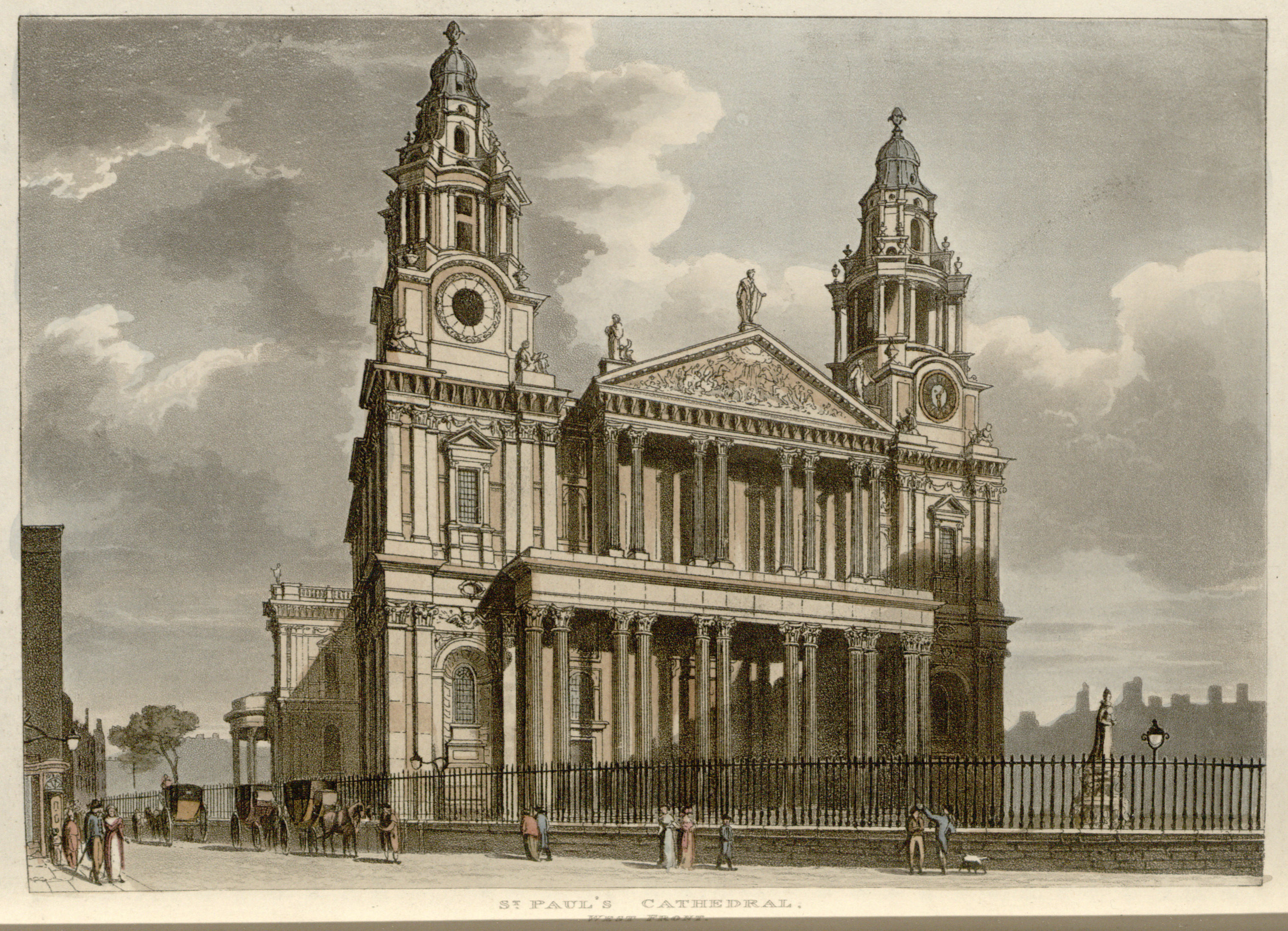 57 - Papworth - St Paul's Cathedral, West Front