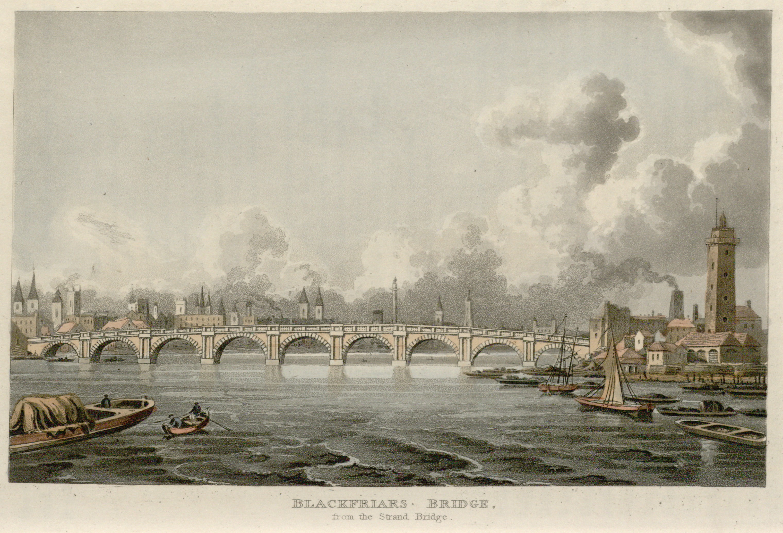 70 - Papworth - Blackfriars Bridge, from the Strand Bridge