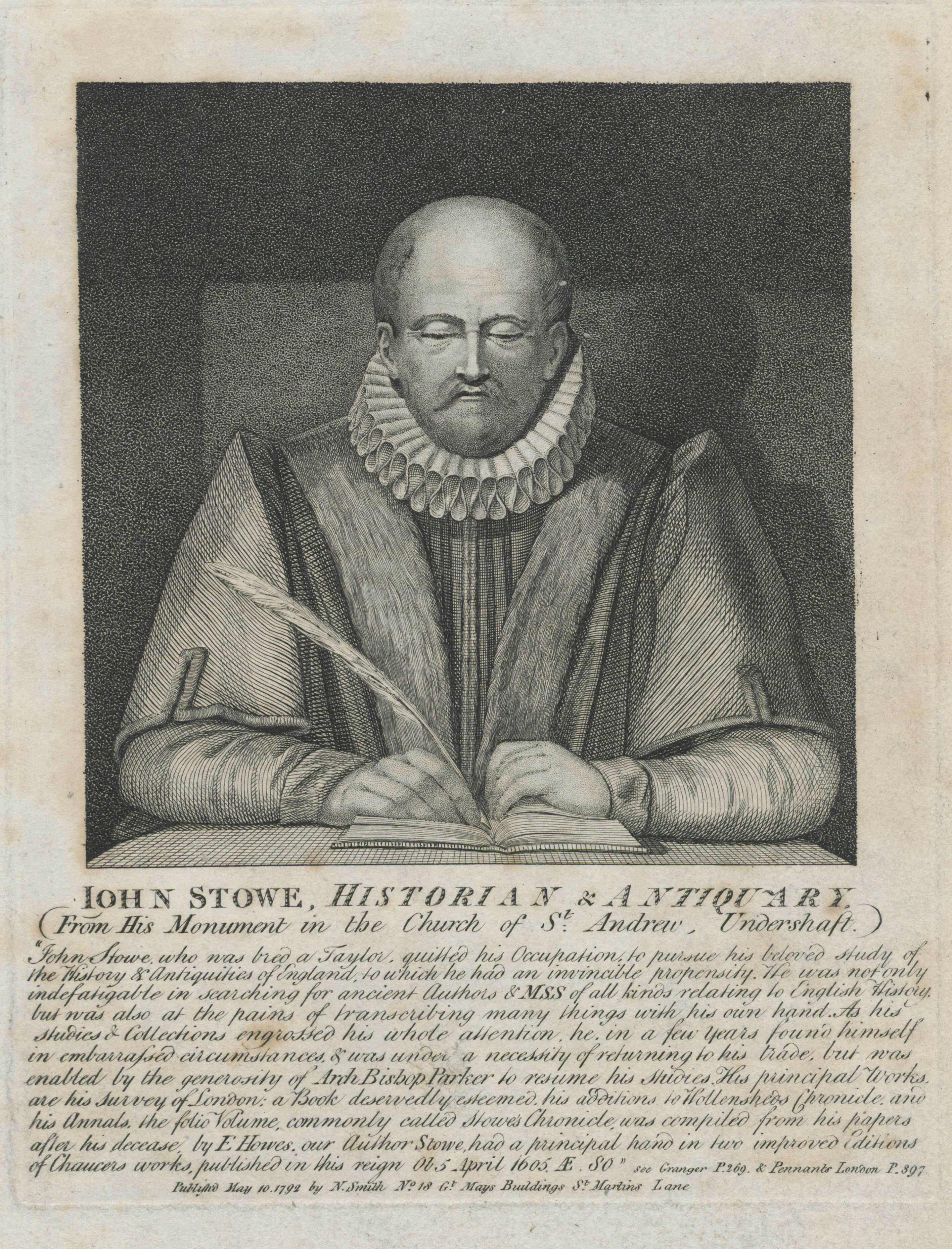 26-john-stowe-historian-antiquary-from-his-monument-in-the-church-of-st-andrew-undershaft