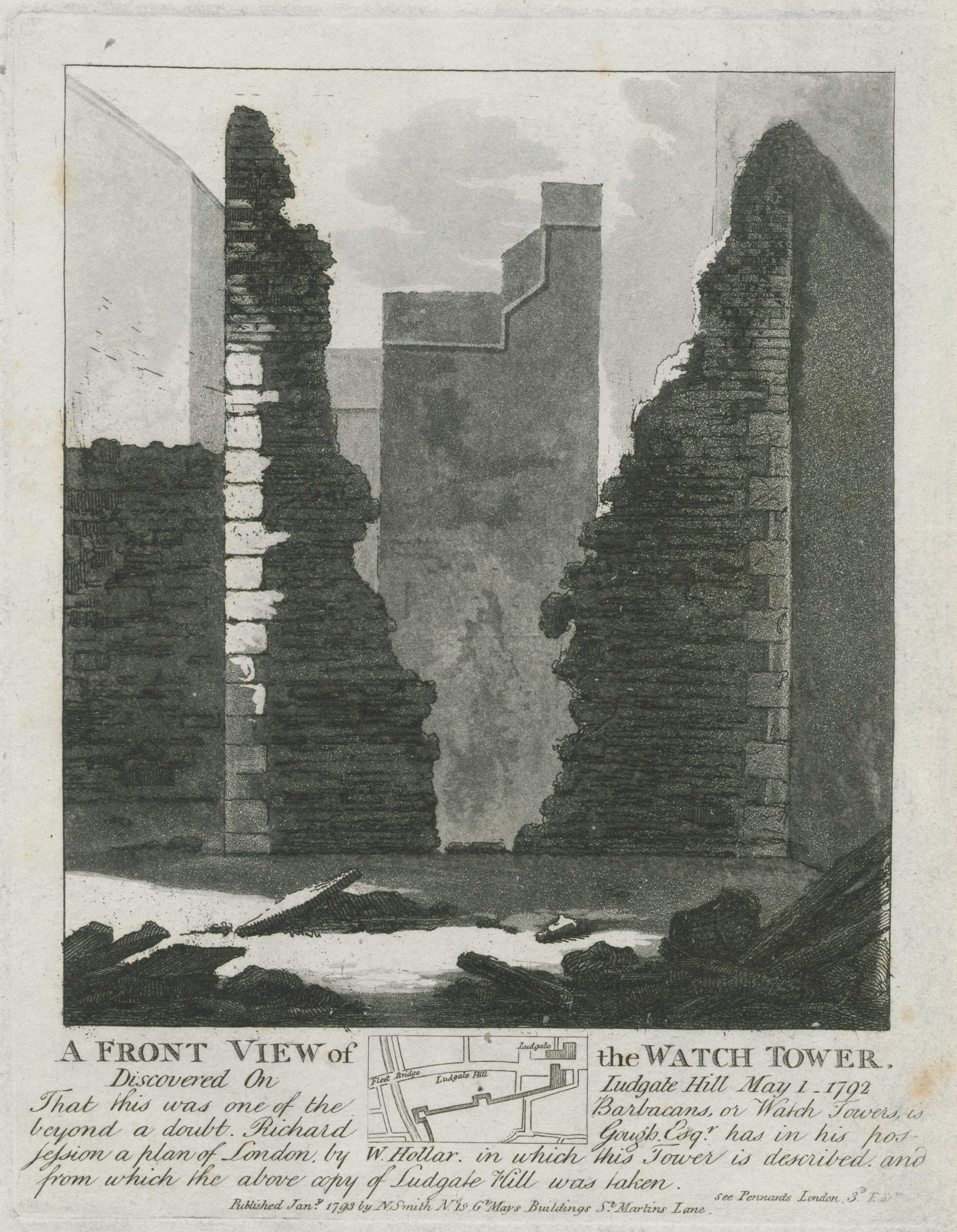 34-a-front-view-of-the-watch-tower-discovered-on-ludgate-hill-may-1-1792
