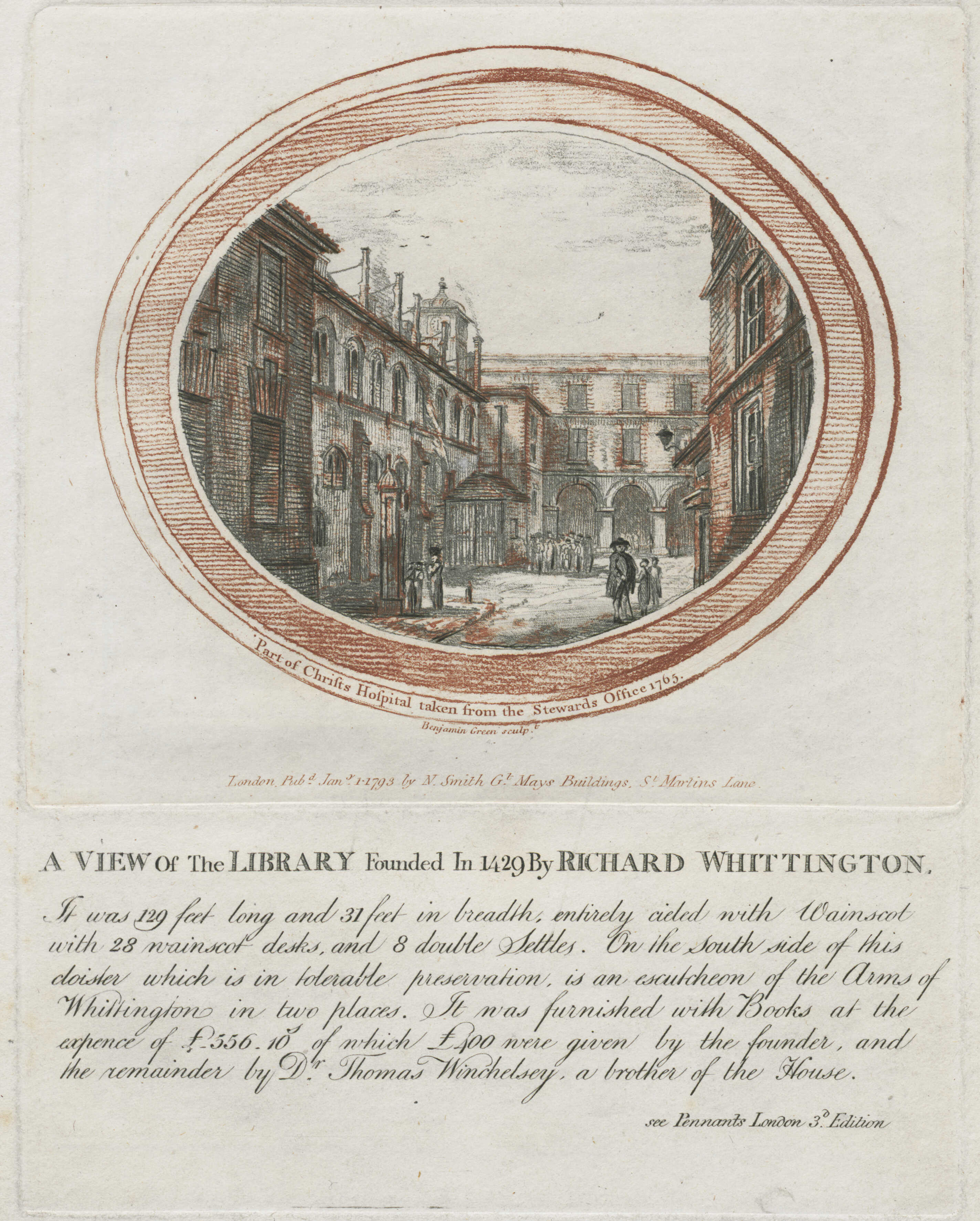 37-part-of-christs-hospital-taken-from-the-stewards-office-1765-richard-whittingtons-library