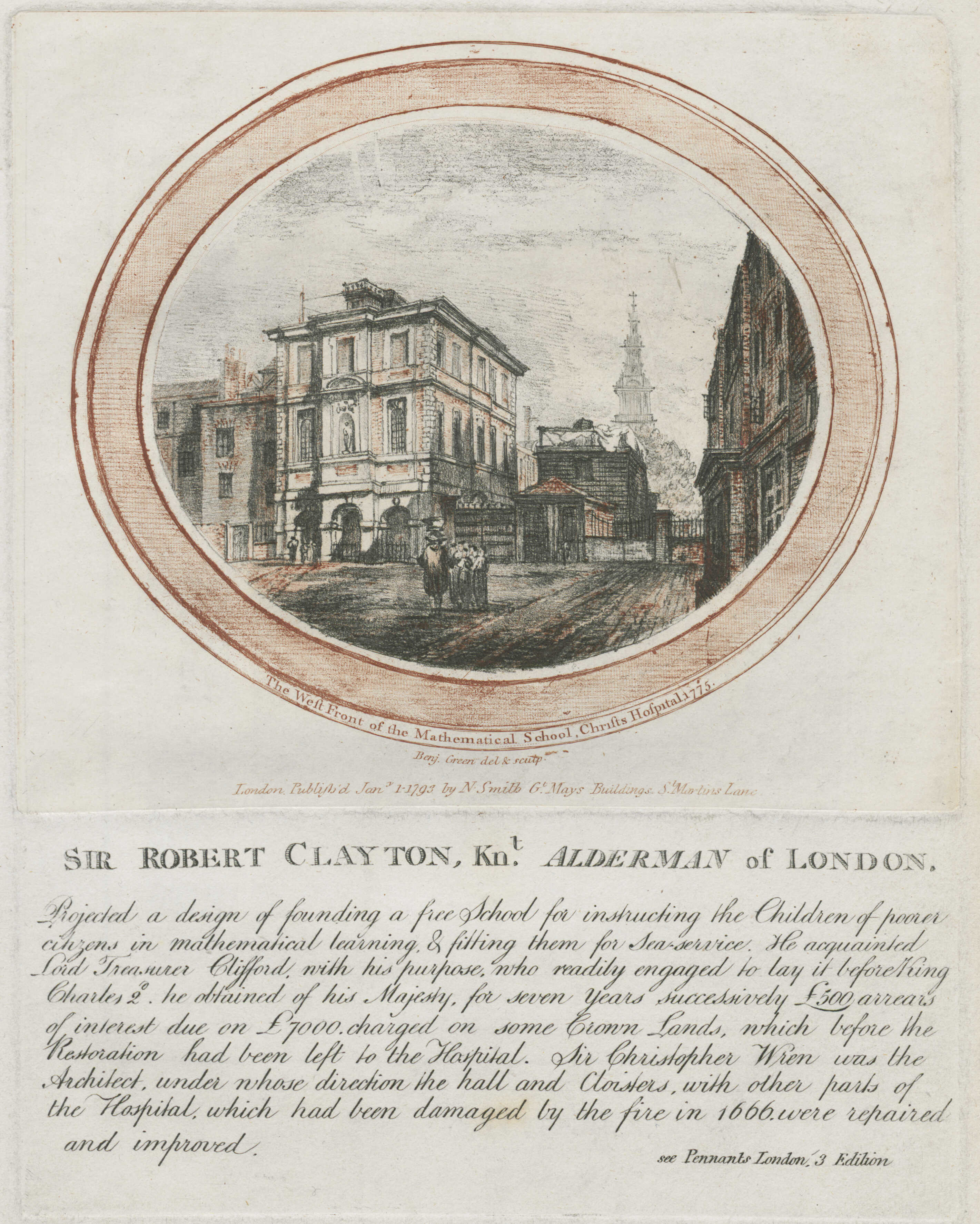 41-the-west-front-of-the-mathematical-school-christs-hospital-1775-sir-robert-clayton