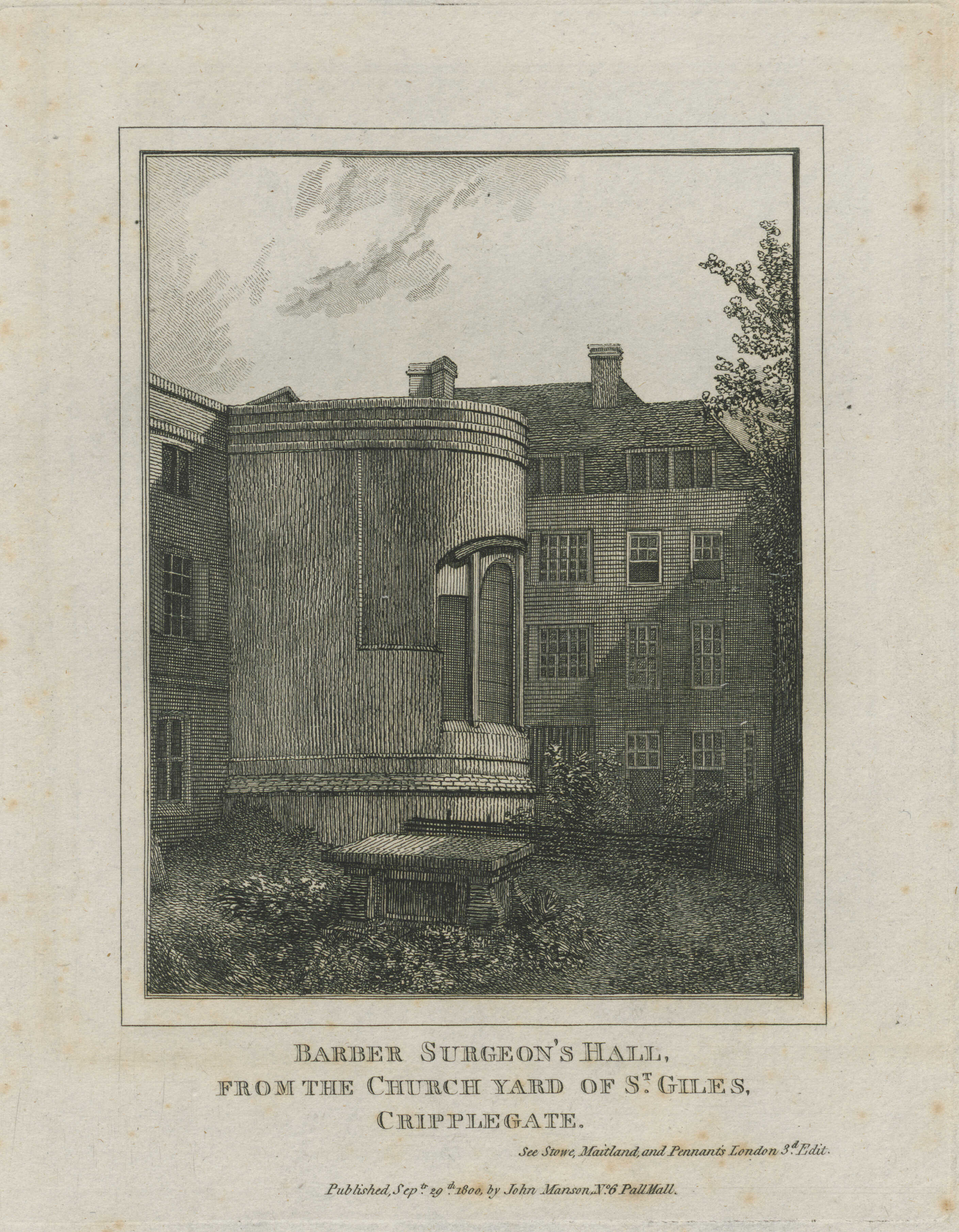 88-barber-surgeons-hall-from-the-church-yard-of-st-giles-cripplegate